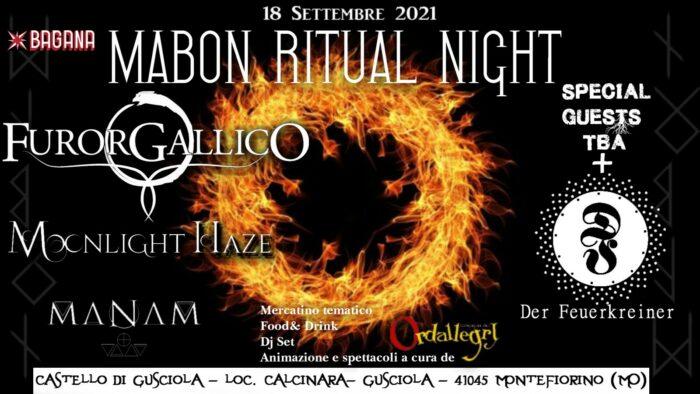 Mabon Ritual Night: FUROR GALLICO, MOONLIGHT HAZE e altri in provincia di Modena