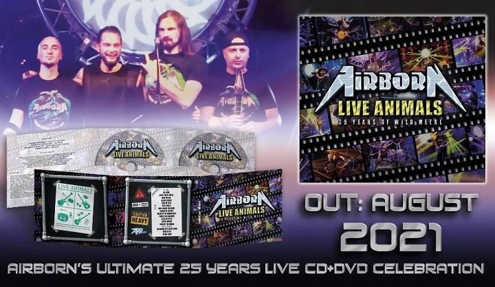 Gli AIRBORN annunciano live album e DVD per il 25° anniversario di carriera