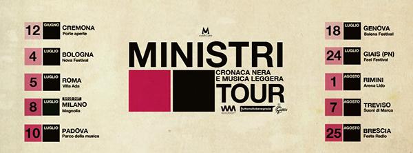 I Ministri, il nuovo tour parte da Cremona a Giugno 2021