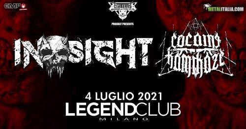 COCAINE KAMIKAZE + IN-SIGHT al Legend Club (MI): il live report