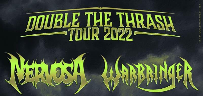 NERVOSA e WARBRINGER in Italia per il Double The Thrash Tour 2022