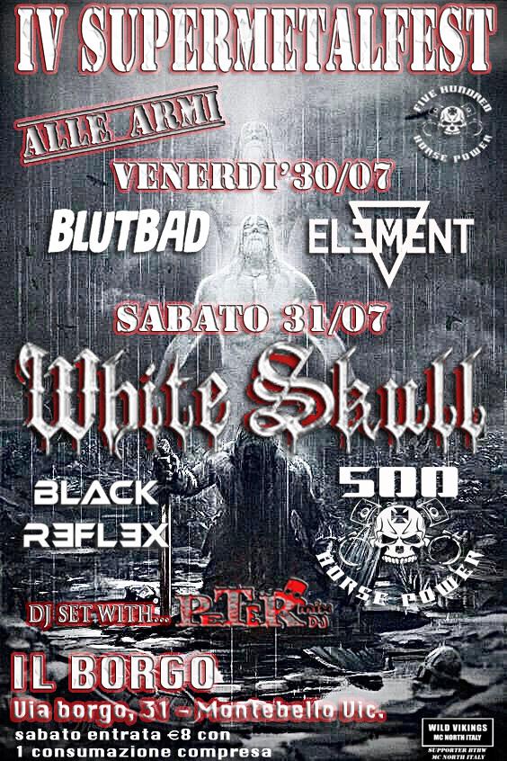WHITE SKULL e altre band al SUPERMETALFEST IV di Montebello Vicentino