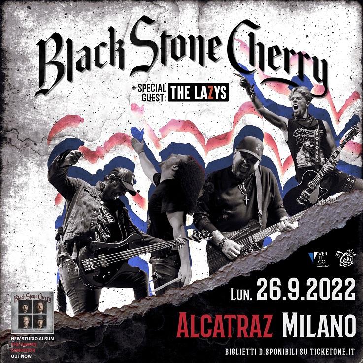 BLACK STONE CHERRY: la data di Milano rimandata al 2022