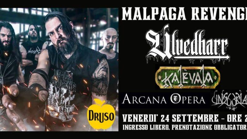 MALPAGA REVENGE: L'evento al Druso di Ranica (BG) si farà!