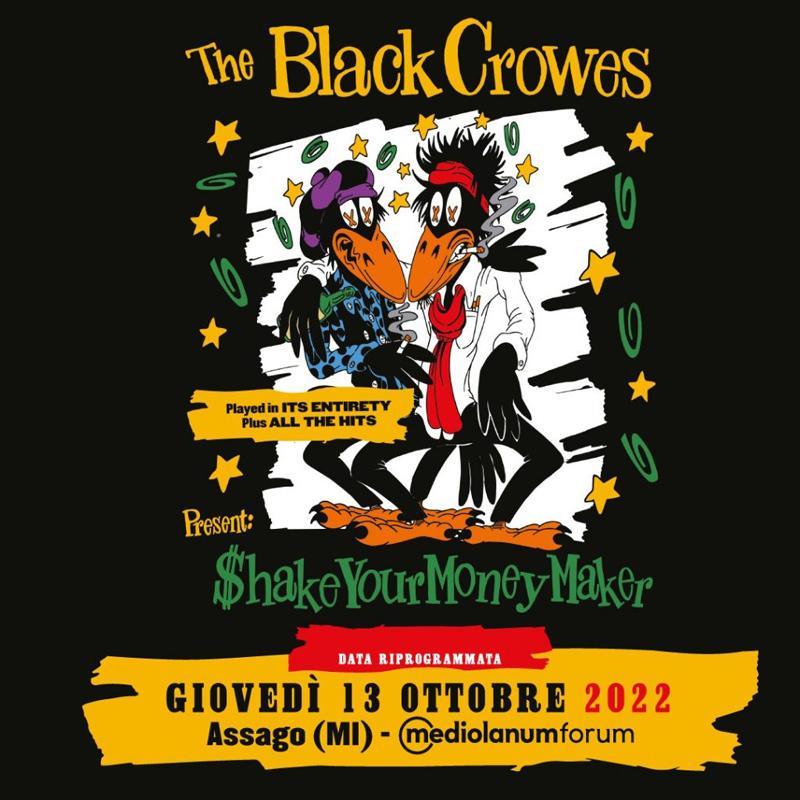 THE BLACKCROWES: la data al Forum d'Assago (MI) rimandata al 2022