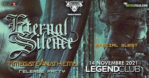 """ETERNAL SILENCE: il release party del nuovo """"Timegate Anathema"""" al Legend Club (MI)"""