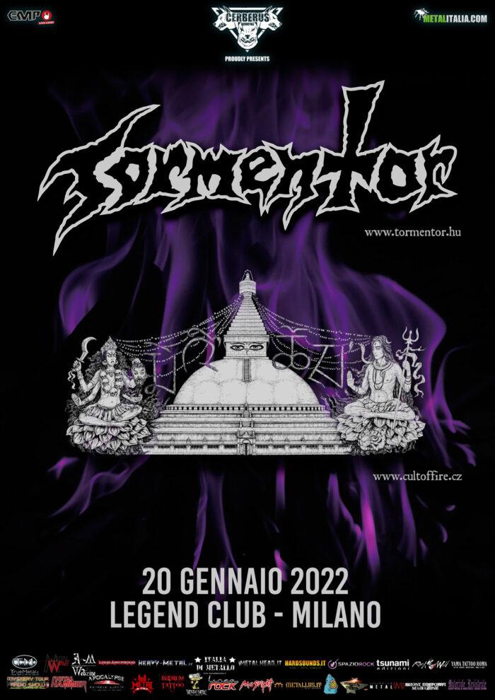 TORMENTOR e CULT OF FIRE: biglietti in vendita per la data al Legend Club di Milano
