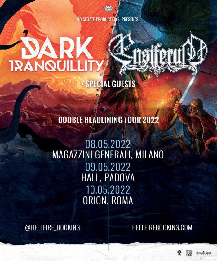 DARK TRANQUILLITY ed ENSIFERUM: tre date in Italia nel 2022