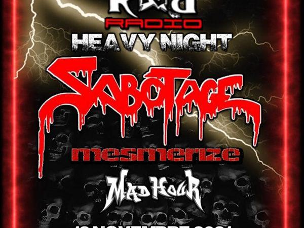 SABOTAGE: suoneranno allo Slaughter Club (MI) con MESMERIZE e MADHOUR per la ROCK 'N' ROLL RADIO HEAVY NIGHT